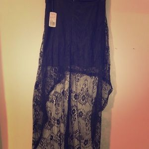 High low lace skirt